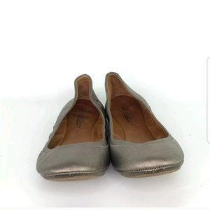 Lucky Brand Shoes - Lucky Brand Emmie Bronze Leather Ballet Flats